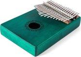 Soundscape Kalimba met 17 tonen in C Majeur (Groen) + Accessoires - Mahonie klankhout - Duimpiano / Mbira