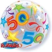 Qualatex - Folieballon - Bubbles - 50 Jaar - Zonder vulling - 56cm