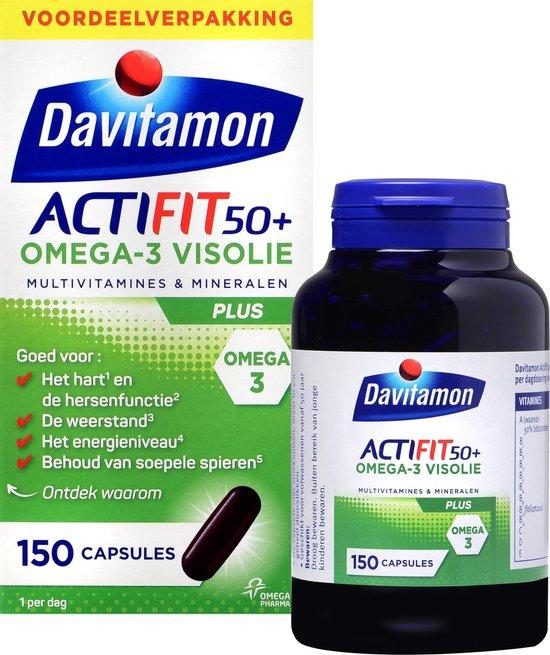 Davitamon Actifit 50+ Omega3 - Multivitamine voor 50 plussers - 150 capsules - Voedingssupplement