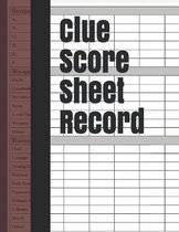 Clue Score Sheet Record