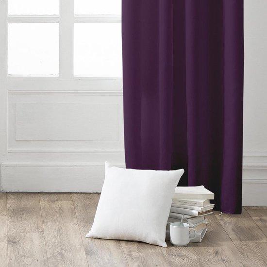 Gordijn met ring - kant en klaar gordijn - 140cm x 260cm - Deep purple