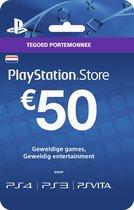 Nederlands Sony PlayStation Network PSN Giftcard Kaart 50 Euro Nederland - PS4 + PS3 + PS Vita + PSN