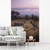 Fotobehang vinyl - Nationaal Park Kruger in Zuid-Afrika breedte 215 cm x hoogte 320 cm - Foto print op behang (in 7 formaten beschikbaar)