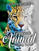 Grayscale Animal Coloring Book