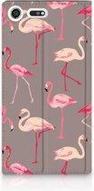 Sony Xperia XZ Premium Standcase Hoesje Flamingo