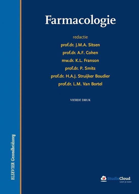 Farmacologie - J.M.A. Sitsen |