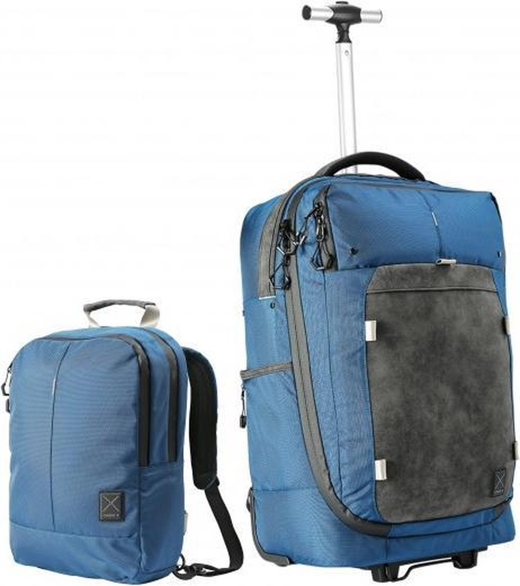 CabinMax X One Hybride Handbagage Koffer - Rugzak - Dagtas - Trolley Reistas - Handbagagekoffer 38L