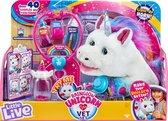 Little Live Pets - Rainglow de Unicorn Verzorgingsset - Interactieve Knuffel