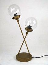 Tafelklok modern design DOUBLE LIGHT