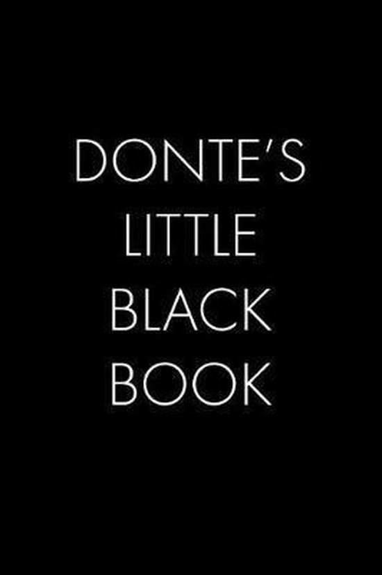Donte's Little Black Book