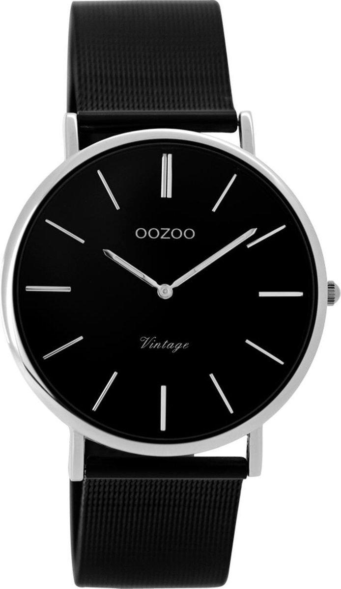 OOZOO Vintage Zwart horloge  (36 mm) - Zwart - OOZOO