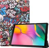 Samsung Galaxy Tab A 10.1 (2019) Hoesje Book Case Hoes Cover Graffity