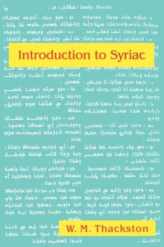 Boek cover Introduction to Syriac van W M Thackston