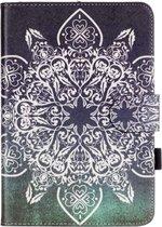 Let op type!! Voor iPad mini 1 / 2 / 3 Retro bloem patroon horizontaal flip lederen draagtas met houder & Card Slots & portemonnee