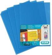 Elba L-map Shine blauw pak van 10 stuks