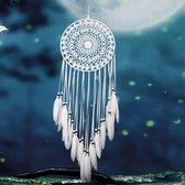 Handgemaakte Dromen Vanger - Dream Catcher - Indianen Deco Droomvanger Kralen Veren – Wit