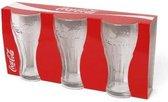 Coca Cola Contour Glazen | 3 Stuks | Drinkbekers | Glazen Beker | Drinkglas | Longdrinkglas| 35cl