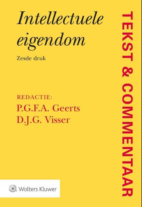Boek cover Tekst & Commentaar  -   Intellectuele eigendom van  (Hardcover)