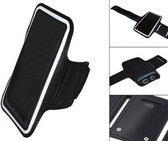 Comfortabele Smartphone Sport Armband voor uw Nokia Asha 230 Dual Sim, Zwart, merk i12Cover