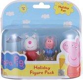 Peppa Pig speelfiguren - Set van twee - Holiday fun set 3