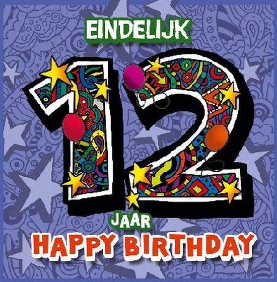 Ongebruikt bol.com   Verjaardagskaart 3D 12 jaar LK-33
