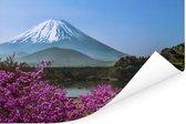 Kleurrijke foto van de berg Fuji in Azië Poster 120x80 cm - Foto print op Poster (wanddecoratie woonkamer / slaapkamer)