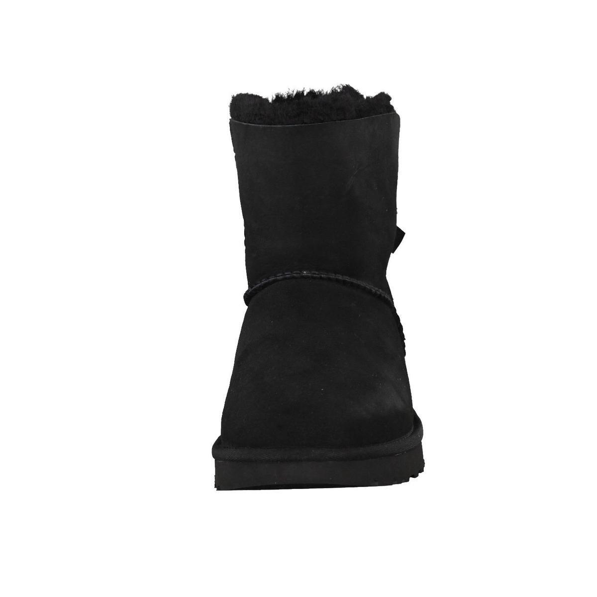UGG Mini Bailey Bow II Dames Laarzen - Black - Maat 38 Enkellaarsjes