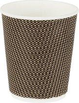 Natural Cups biologische wegwerp bekers - zwart/bruin - 240 ml - 25 Stuks - Papier/Karton