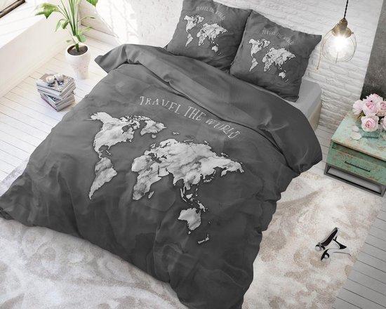 Sleeptime Marble World Dekbedovertrekset - Tweepersoons - 200x200/220 + 2 kussenslopen 60x70 - Antraciet