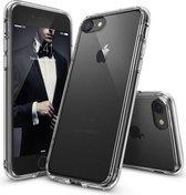 SMH Royal - Luxe voor iPhone 7 Siliconen Hoesje met Side Grip | Transparant | Beste Bescherming voor uw iPhone | Silicoon | TPU | Backcover | Crystal