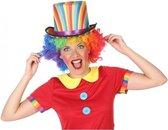Gekleurde hoge clown verkleed hoed voor volwassenen