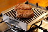 IRONCHEF Lavastenen Grill - Geschikt Voor Gasfornuis - Barbecue - BBQ - Grillplaat - Grilplaat - Bakplaat - Grillpan