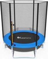 Trampoline - blauw - 183 cm - met net - tot 90 KG