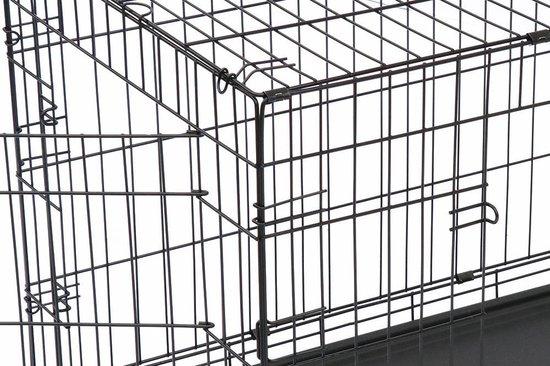 Hondenbench met Plaid - Zwart - 122 x 76 x 84 cm