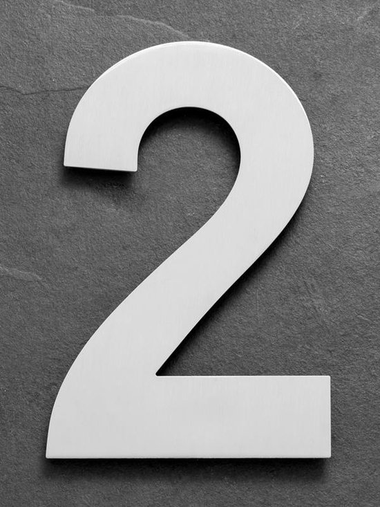 Xaptovi Huisnummer 2 Materiaal: RVS - Hoogte: 25cm - Kleur: RVS - XAPTOVi