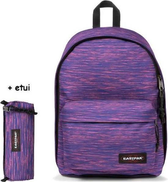 Eastpak Out Of Office Laptop Rugzak + Etui Knit Pink