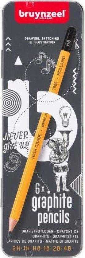 Afbeelding van Bruynzeel Teens 6 grafietpotloden - diverse hardheden