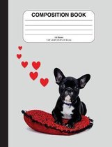 Composition Notebook with French Bulldog (Graph Paper)