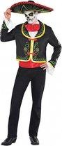Mexicaans calaveras Dia de los Muertos kostuum voor mannen - Volwassenen kostuums