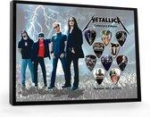 Plectrumdisplay Metallica ingelijst
