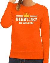 Oranje Biertje ik willem sweater dames S