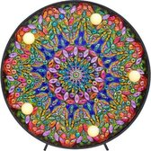Diamond Painting Decoratieschaal - Mandala's - met LED Verlichting - Maak Je Eigen Decoratieschaal