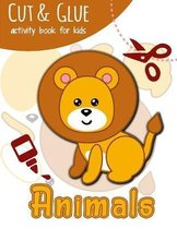 Cut & Glue Activity Book for Kids - Animals