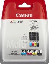Canon CLI-551 C/M/Y/BK w/sec inktcartridge Zwart,