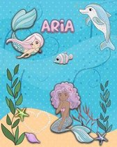 Handwriting Practice 120 Page Mermaid Pals Book Aria