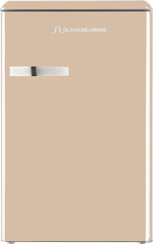 Koelkast: Schaub Lorenz Retro TL55C-8588 Koelkast, crème, van het merk Schaub Lorenz