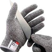 Mancor Snijbestendige Handschoenen 2 stuks - Oesterhandschoen - Keukenhandschoenen - Snijhandschoen - Wasbaar