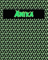 120 Page Handwriting Practice Book with Green Alien Cover Anika