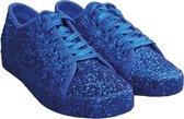Blauwe glitter disco sneakers/schoenen voor dames 41