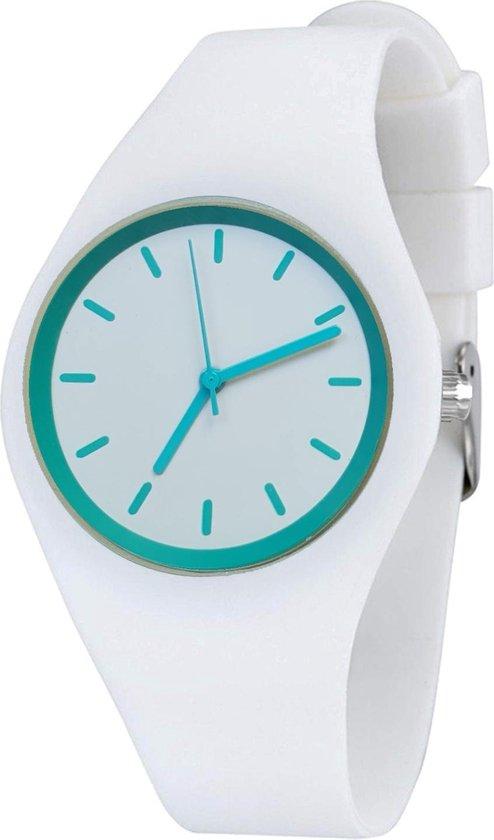 Fako® – Horloge – Siliconen – Ultra Deluxe – Wit – Uni Groen